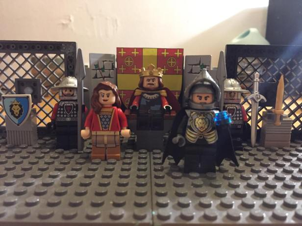 Lego depiction of the court of Baldwin II in Constantinople