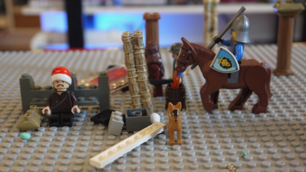 Lego depiction of the Latin occupation of Constantinople