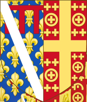 Latin Empire and the French coat oaf arms