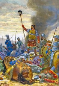 Nicaean army with the decapitated head of Seljuk Sultan Kaykhusraw I, 1211