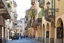 Streets of Casale Monferrato, capital of Montferrat region