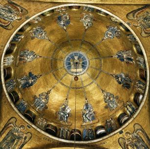 Byzantine style mosaics in the San Marco dome, Venice