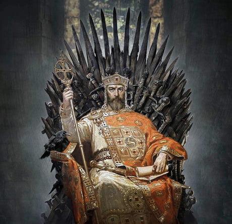 Tsar Simeon of Bulgaria on the iron throne (r. 893-927)
