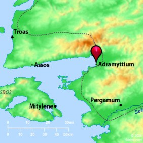 Location of the Neokastra Theme in Western Asia Minor along the Aegean