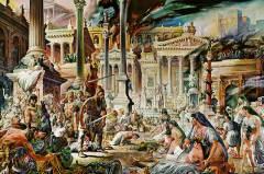 Alaric and Visigoths sack Rome, 410