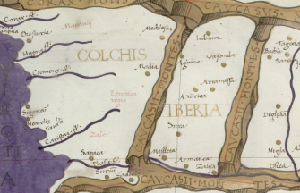Eastern Roman map of Iberia (Georgia)