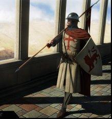 Cilician Armenian knight in western style armor