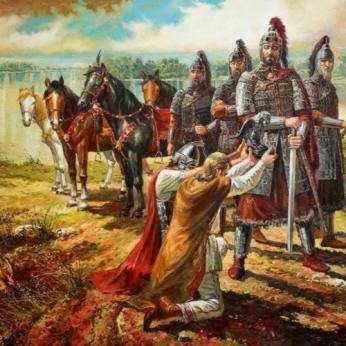 Byzantines surrender to the Bulgar king Asparukh, 681