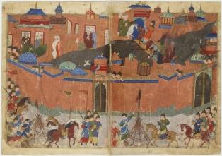 Mongols siege Baghdad, 1258