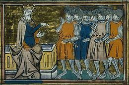 Medieval illustration of the Latin court