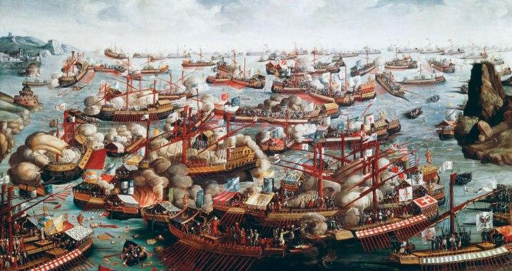 Battle-of-Lepanto-fleets-galleys-Turks-Venice-October-7-1571