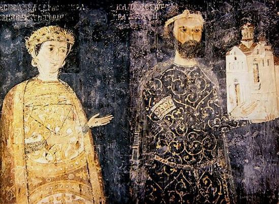 2nd Empire Bulgarian art depicting Byzantine inspired fashion