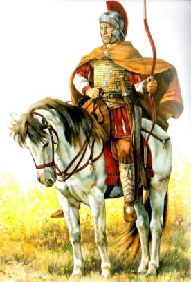 Bucellarii cavalryman, predecessor of the Cataphracts