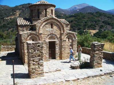 Byzantine church in Crete