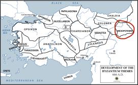Location of Mesopotamia in Asia Minor, origin of the Angelos family