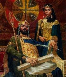 John III Vatatzes and his wife Irene Laskarina, daughter of Theodore I