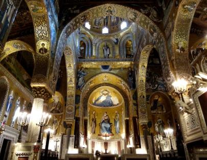 Byzantine mosaics in Monreale, Sicily