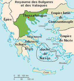 Kingdom of Thessalonica, controlled by Montferrat under the Latin Empire (1204-1224)