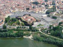 Top view of Casale Monferrato, capital of Montferrat