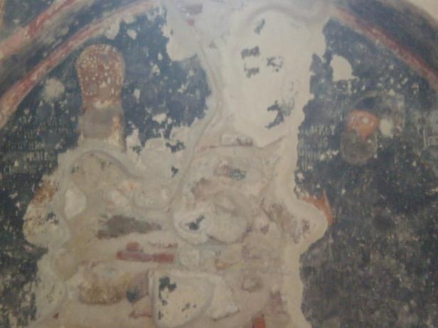 Fresco of Despot Theodore I Palaiologos as a ruler and monk