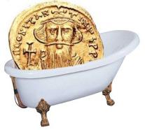Emperor Constans II, assassinated in his bath in Syracuse