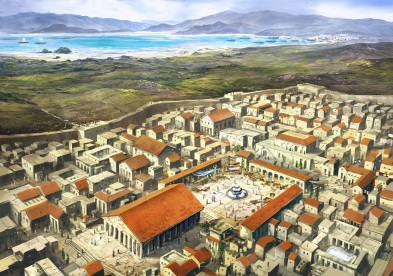 Corinth, once the capital of the Peloponnesian Theme