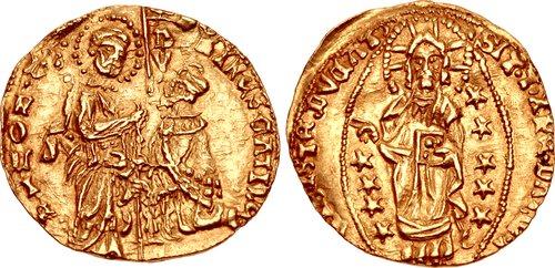 Coin of Dorino I Gattilusio, Lord of Lesbos (1428-1455), son of Francesco II