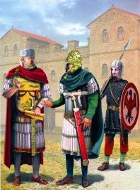 Exarch Eleutherius of Ravenna (left), usurper against Heraclius 619