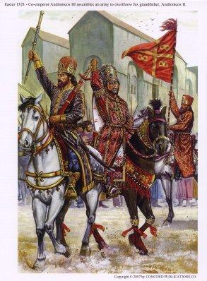 Byzantine Civil War of 1321-1328 between Andronikos III and Andronikos II