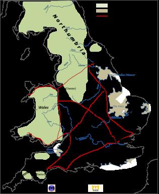 Map of Saxon England, 6th century