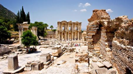 Remains of the city of Ephesus