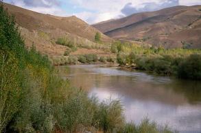 Upper Euphrates River in Turkey