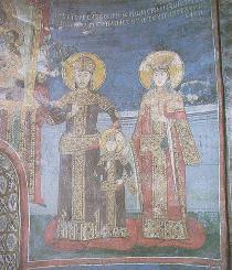 Dušan with his wife Helena and son Stefan Uroš V