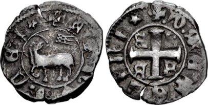 Coin of Jacopo Gattilusio, Lord of Lesbos (1404-1428), son of Francesco II