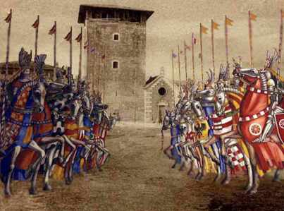 Conflict between the Guelphs and Ghibellines, medieval Italy, beginning 1125