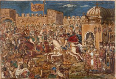 Constantine XI leads the final charge in Constantinople, 1453