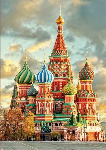 St. Basil's Cathedral in Moscow, built in 1561 under Ivan the Terrible