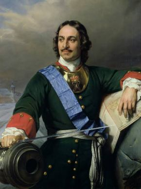 Peter I the Great, Tsar of Russia (1682-1725), grandson of Mikhail