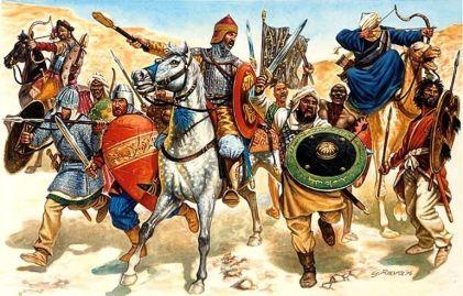 Army of the Umayyad Calipahte invades Byzantine North Africa