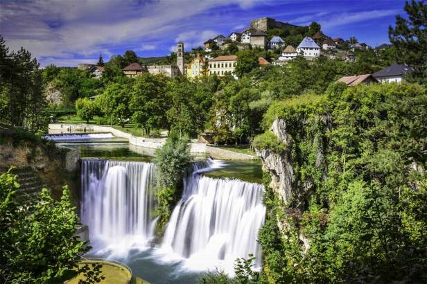 Jajce, former capital of the Bosnian Kingdom