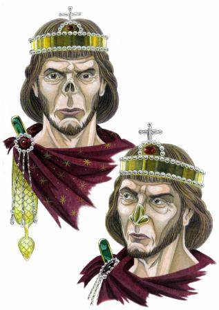 Emperor Justinian II (r. 685-695/ 705-711) with mutilated nose