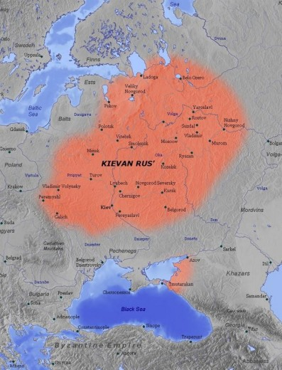 Kievan Rus' Empire, founded in 862