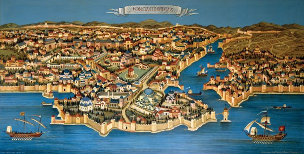 """Constantinople, capital of the Byzantine Empire and the """"Queen of Cities"""""""