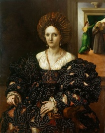 Margaret Paleologa, wife of Federico II Gonzaga and daughter of William IX in western Renaissance fashion