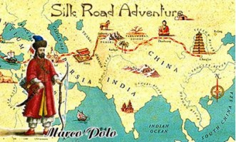 Marco Polo's Silk Route map, Venice to China