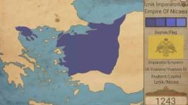 Byzantine Empire of Nicaea map