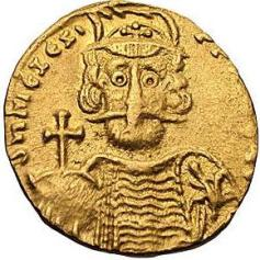 Coin of Mizizios, Komes of Opsikion and usurper (668-669)