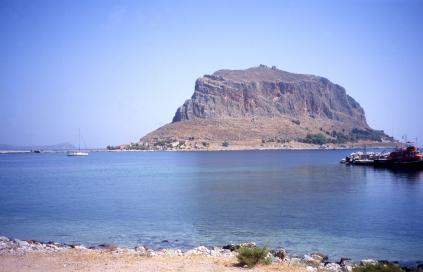 Rock peninsula fortress of Monemvasia, last of the Byzantine holdouts
