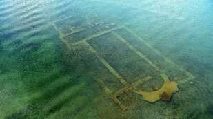Ruins of a Byzantine church in the lake of Nicaea