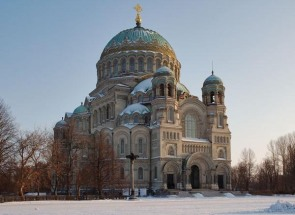 Russian church architecture, inspired by the Byzantine style